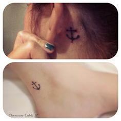 Friendship anchor tattoos