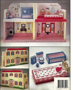 Fashion Doll Playhouse   Barbie Plastic Canvas Pattern   Annies Attic 87R50.