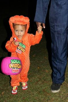 Sour patch kid costume. #homemade #glowstick # Halloween