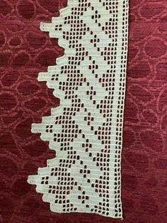 Book of Filet Crochet and cros Crochet Boarders, Crochet Edging Patterns, Crochet Lace Edging, Doily Patterns, Crochet Trim, Crochet Designs, Crochet Simple, Love Crochet, Filet Crochet