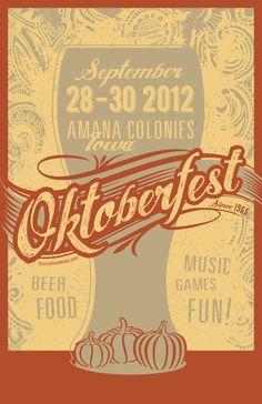 Amana Colonies Oktoberfest Poster
