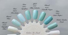 Color Me Loud: Yves Saint Laurent La Laque Couture #50 Bleu Celadon, #51 Bleu Cyclades for Bleus Lumiere Summer 2014 Collection, Reviews, Swatches & Comparison