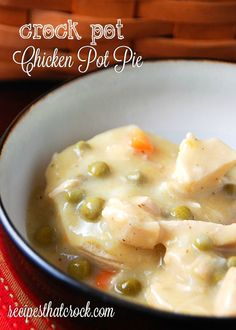Crock Pot Chicken Pot Pie recipe—all the flavor of the traditional dinner meal with a fraction of the work.