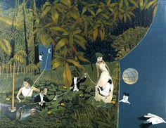 """Saatchi Online Artist: Dominique Hoffer; Oil, 2012, Painting """"Les Délices Inopinés du Futur Antérieur"""""""