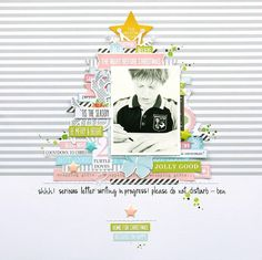 Dear Santa by Melinda Spinks - Scrapbook.com - Arrange embellishments and stickers into the shape of a tree with the star at the top.