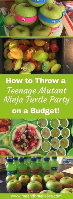 Teenage Mutant Ninja Turtle Party food ideas that are really easy to do - pizza is ideal. All these ideas are easy, don't take much time and are perfect on a budget. You don't have to be super crafty to make a fab party this summer! Turtle Birthday Parties, Ninja Turtle Birthday, 5th Birthday, Birthday Ideas, Happy Birthday, 100 Calories, Party Food On A Budget, Ninja Party, Diy Ninja Turtle Party