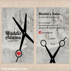 hairstylist business cards - color both sides - FREE UPS ground