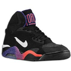 Nike Air Force 180 Mid - Men\u0026#39;s - Charles Barkley - Black/Court Purple/
