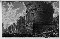 The Mausoleum of Caecilia Metella, etching by Giovanni Battista Piranesi.