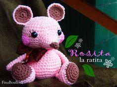 Rosita,  a partir de un patrón de Litlle Muggles. Patrón gratis en Inglés // Free Pattern English