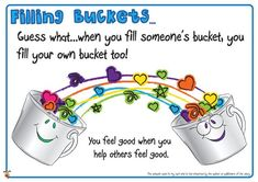 Teachers Pet - Have You Filled a Bucket Today? Posters - FREE ...