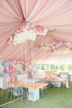 Dream, Believe & Wish Pastel Unicorn Birthday Party on Kara's Party Ideas Baby Girl Birthday, Unicorn Birthday Parties, Unicorn Party, First Birthday Parties, Unicorn Wedding, 25th Birthday, Birthday Cake, Balloon Decorations Party, Birthday Party Decorations
