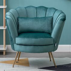 Teal Armchair, Velvet Wingback Chair, Velvet Sofa, Leather Sofa Bed, Leather Recliner Chair, Single Sofa Chair, Tub Chair, Living Room, Furniture