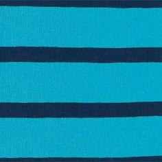 Jersey+m/7+mm+Streifen+Türkis