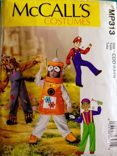 Details about McCalls Costumes MP313 Boys Girls 2 3 4 5 Pattern Jumpsuit Helmet Hat Uncut New & McCallu0027s Boys Halloween Costume Pattern Sz 7-8 Rock Star Crusader ...