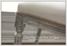dining chair makeover | From My Front Porch To Yours: Painting Fabric with Chalk Paint- Now A ...