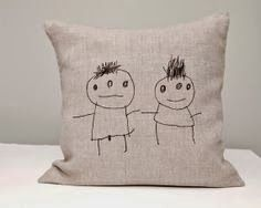 Handprinted cushion by Rasaoga
