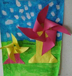Vouwen: molens Summer Crafts, Crafts For Kids, Preschool Lessons, Holland, Projects, Ideas, Kids, Art, Crafts For Children