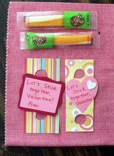 Healthy Valentines maybe for preschool I don't think I could talk the bigs into these!!