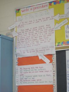 This picture includes- a model sample, labels, and the success criteria for the writing form procedure.