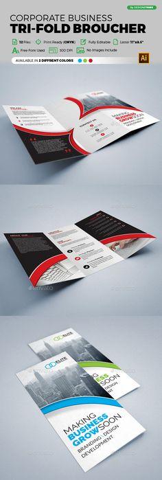 Trifold Brochure - Brochures Print Templates Download here : https://graphicriver.net/item/trifold-brochure/19637443?s_rank=126&ref=Al-fatih