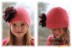 Crochet with love - Hand made Ája: Jednoduchá jarní čepička - ks a řo Crochet Beanie, Knitted Hats, Knit Crochet, Crochet Hats, Baby Hats, Diy And Crafts, Embroidery, Sewing, Knitting
