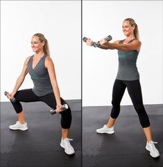 Two-in-One Toning Exercises - did this today @ the gym!