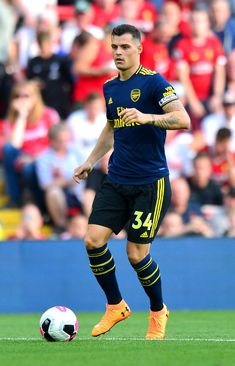 Unai Emery challenges new captain Granit Xhaka to get Arsenal fans onside Arsenal Wallpapers, Laurent Koscielny, Granit Xhaka, Hector Bellerin, International Football, Football Outfits, Knee Injury, Best Player, Football Players