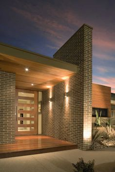 Amazing Brick Building Designs You Need See Entrance Design, House Entrance, Facade Design, Brick Building, Building Design, Building A House, Modern Brick House, Timber House, House With Porch
