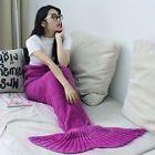 Super Soft Crocheted Mermaid Tail Blanket Knitting kids&Adult Sofa Sleeping Bag/