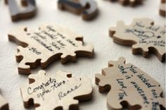 Looking for nontraditional, creative ideas for a bridal or wedding guest book? Try this fun puzzle. http://www.bridaltweet.com/profiles/blogs/what-guest-book-here-s-something-to-actually-write-on