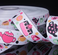 Hey, I found this really awesome Etsy listing at https://www.etsy.com/listing/122046816/teapot-cupcake-printed-grosgrain-ribbon