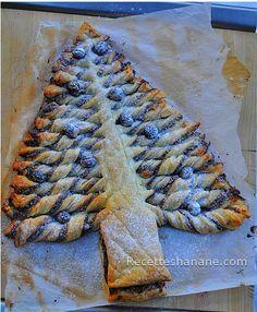 Une idée très sympa et facile à faire pendant cette période de fêtes de fin d'année, vous pouvez servir ce sapin feuilleté au goûter ou l'offrir comme un petit gâteau gourmand… J'ai trouvé cette idée sur pinterest et je l'ai déjà refaite deux fois avec...