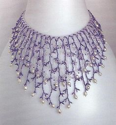 This is surprisingly time-consuming but a delicate, easy piece.  (Translate other info on fringe in post) ~ Seed Bead Tutorials