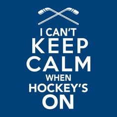 Gift for Hockey Fan T-Shirt with Keep Calm Quote. Perfect for sports fans. Rangers Hockey, Blackhawks Hockey, Hockey Teams, Hockey Stuff, Chicago Blackhawks, Hockey Room, Hockey Decor, Hockey Crafts, Red Wings Hockey