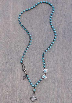 Turquoise necklace by Harper Belle.