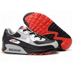 the best attitude bf139 422f2 Cheap Purchase Nike Air Max 90 Mens Premium Trainers Black Grey Red And  White Sneaker Online Shop Store