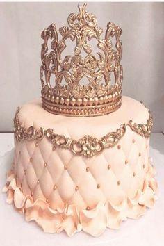 21st Birthday Cakes, Sweet 16 Birthday, Birthday Cake Crown, Girl Birthday, Flamingo Birthday, Happy Birthday, Beautiful Birthday Cakes, Beautiful Cakes, Bolo Tumblr