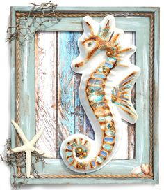 DIY Altered Paper Mache Seahorse with Flying Unicorn and Prima/Frank Garcia