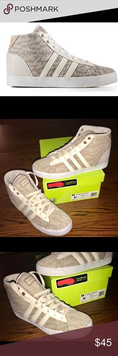 🌟Adidas Cloudfoam Neo CF DAILY QT MID W⭐️ NEW! BRAND NEW! In Original box! Never worn. Product description is in the pictures!   This shoe is so comfy, but it doesn't fit me! 😔  Size 8.5 ⭐️ Smoke-free, Pet-free, kid-free Home!   MSRP is $69.99   Asking $45 adidas Shoes Athletic Shoes
