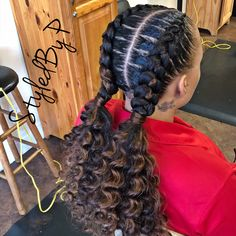 2 Braids - Home Plaits Hairstyles, Undercut Hairstyles, Feathered Hairstyles, Pretty Hairstyles, Girl Hairstyles, Updos, Medium Hair Styles, Curly Hair Styles, Natural Hair Styles