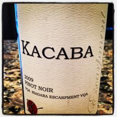 The Nittany Epicurean: 2009 Kacaba Pinot Noir VQA