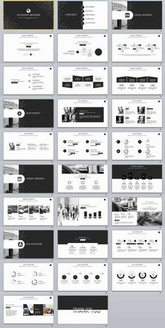 Black Infographic Business PowerPoint Template