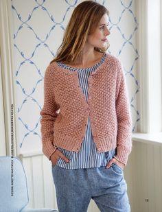 Hendes Verden Fair Isle Knitting, Hand Knitting, Knitting Patterns, Drops Design, Mohair Sweater, Knit Cardigan, Online Thrift Store, Crochet Poncho, Crochet Fashion