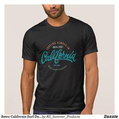 Retro California Surf Design Men's T-shirts