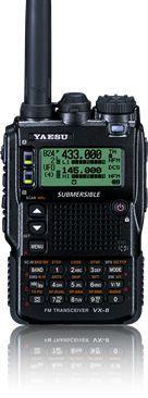 Yaesu VX-8DR // Hands down the best handheld wide Band radio .