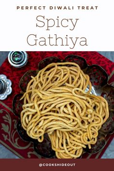 These easy to make Spicy Gathiya (Gathia) is a perfect Diwali snack – these are crunchy, spicy and very addictive. These also make for a yummy tea time treat. #cookshideout #snack #indian