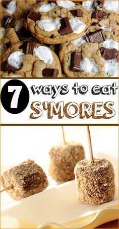 "7 Ways to Eat S'mores.  ""Out of the Box"" ideas for your backyard s'more party!  Delicious recipes using graham crackers, marshmallows and chocolate."