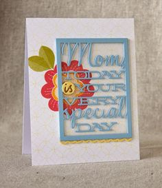 Mother's Day Card by Lizzie Jones for Papertrey Ink (February 2015)