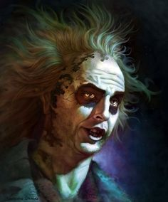 BROTHERTEDD.COM - welcome2creepshow: 'Beetlejuice' by Jonathan... Tim Burton Characters, Horror Movie Characters, Superhero Characters, Horror Movies, Dark Fantasy Art, Sci Fi Fantasy, Dark Art, Beetlejuice Cartoon, 8 Bits